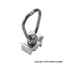 Endbeschlag mit Ring für Airlineschiene - Single Stud Fitting - Aluminiumretainer